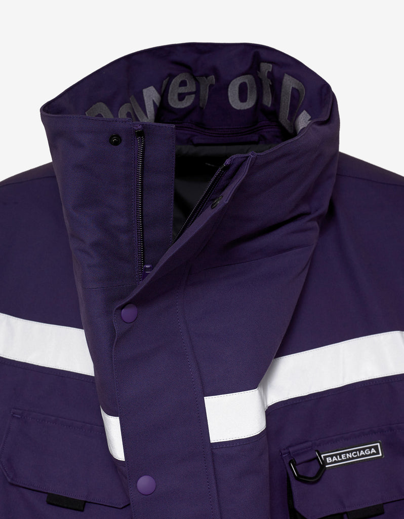 Purple Profil Collar Parka