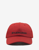 Red Baseball Cap with Logo