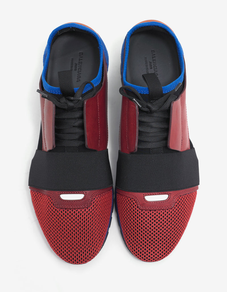 Red & Blue Panelled Race Runners