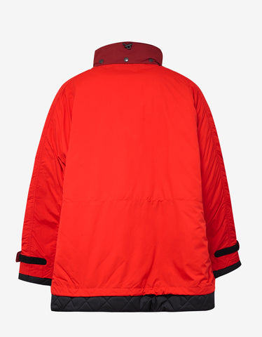 Balenciaga Red Oversized Padded Jacket