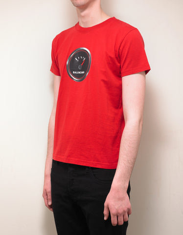 Balenciaga Red Speed Shrunk T-Shirt
