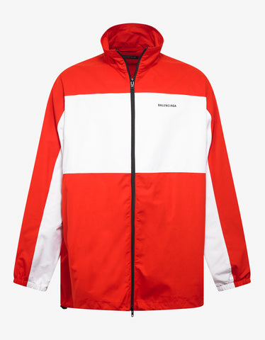 Balenciaga Red Zip Up Jacket