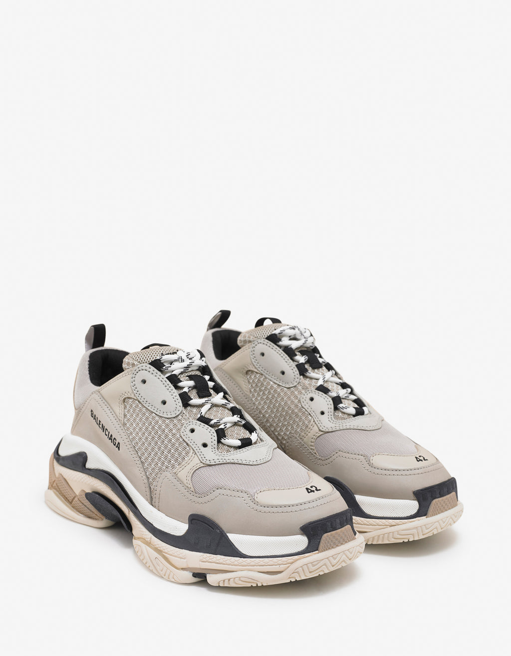 Triple S Beige & Black Trainers