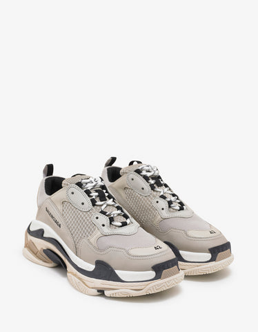 Balenciaga Triple S Beige & Black Trainers
