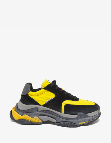 Balenciaga Triple S Black, Yellow & Grey Trainers