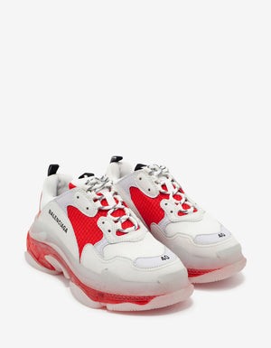 Triple S Clear Sole White & Red Trainers