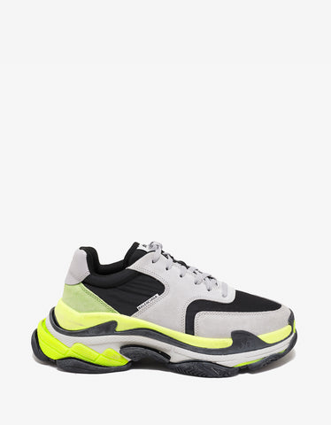 Balenciaga Triple S Grey, Yellow & Green Trainers