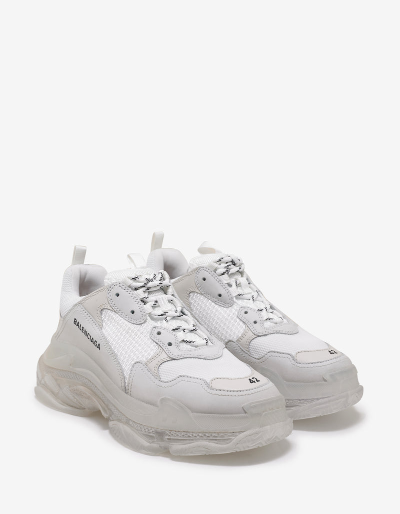 Triple S White & Clear Sole Trainers
