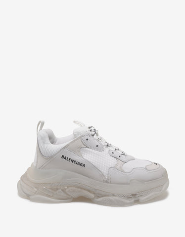 Balenciaga Triple S White & Clear Sole Trainers