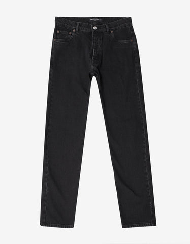 Black Contrast Stitch Chino Trousers