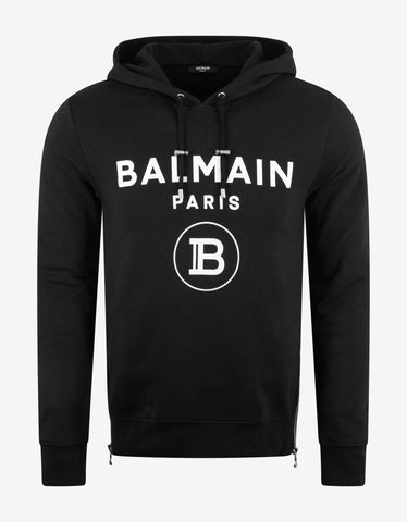 Black Basketball Graphic Cashmere Hoodie