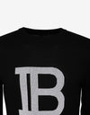 Black B Logo Wool-Blend Sweater