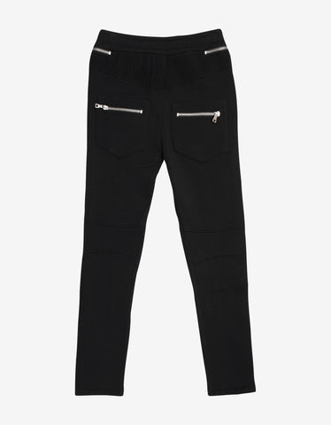 Balmain Black Biker Sweat Pants