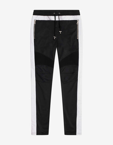 Balmain Black Biker Sweat Pants with B Logo