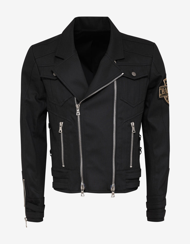 Black Denim Perfecto Biker Jacket