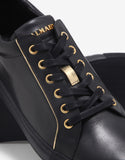 Black & Gold Leather Trainers