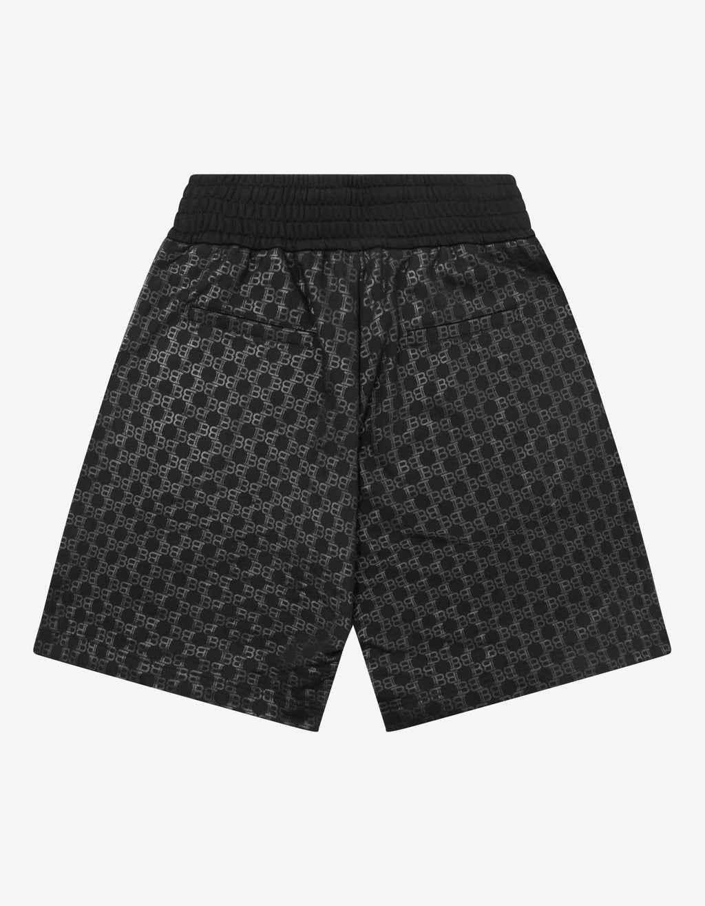 Black Logo Monogram Sweat Shorts