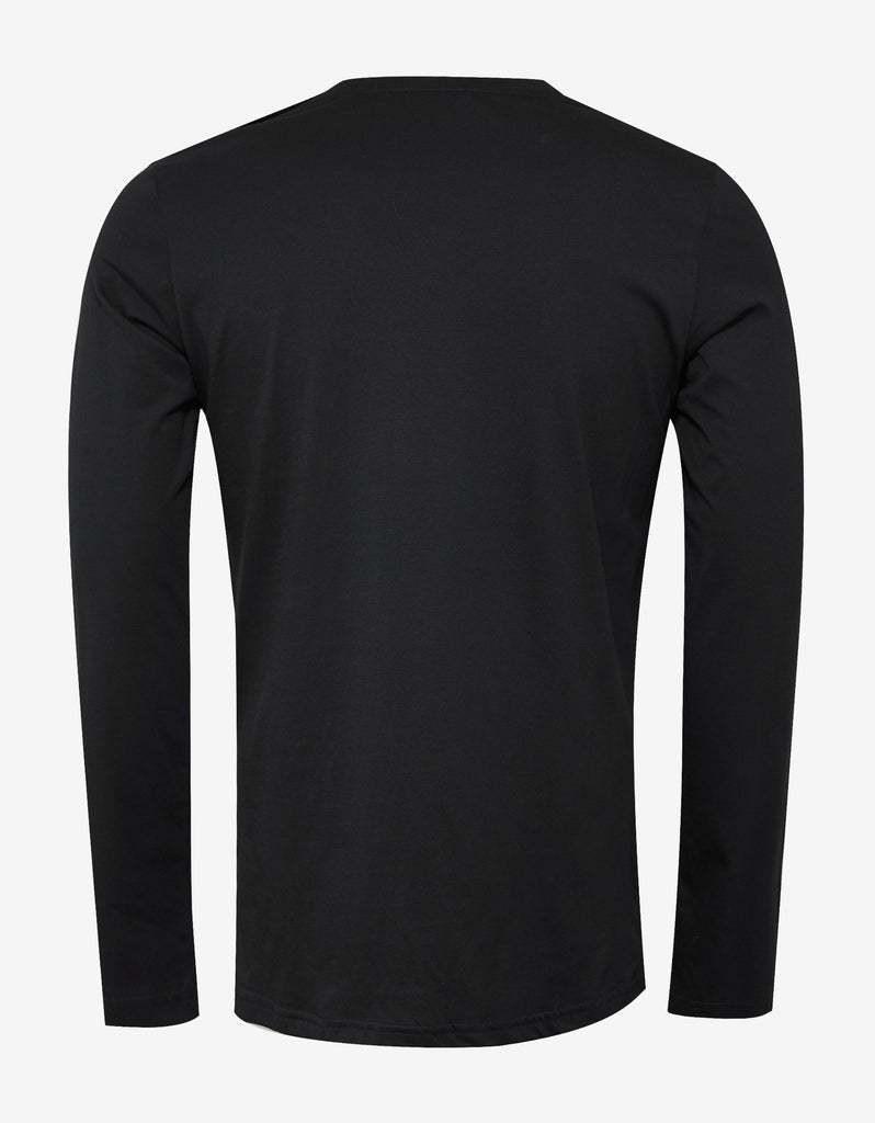 Black Long Sleeve Logo T-Shirt