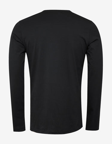 Balmain Black Long Sleeve Logo T-Shirt