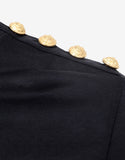 Black Long Sleeve T-Shirt with 'B' Embroidery