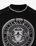 Black and Silver Medallion Sweatshirt
