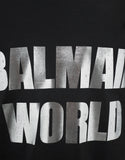 Black 'Balmain World' Print T-Shirt
