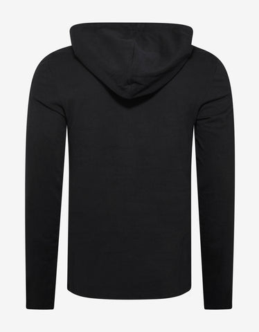Balmain Black B Logo Print Hooded T-Shirt
