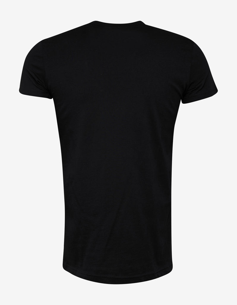 Black Metallic Print T-Shirt