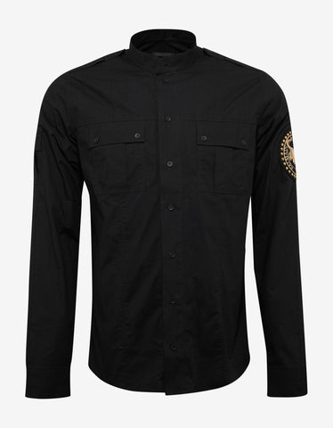 Balmain Black Military Shirt with Arm Badge
