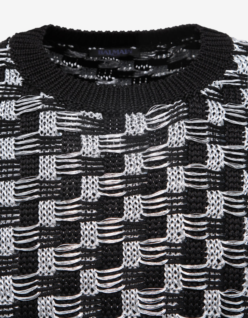 Black & Silver Jacquard Sweater