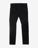 Black Slim Biker Jeans with White Trim
