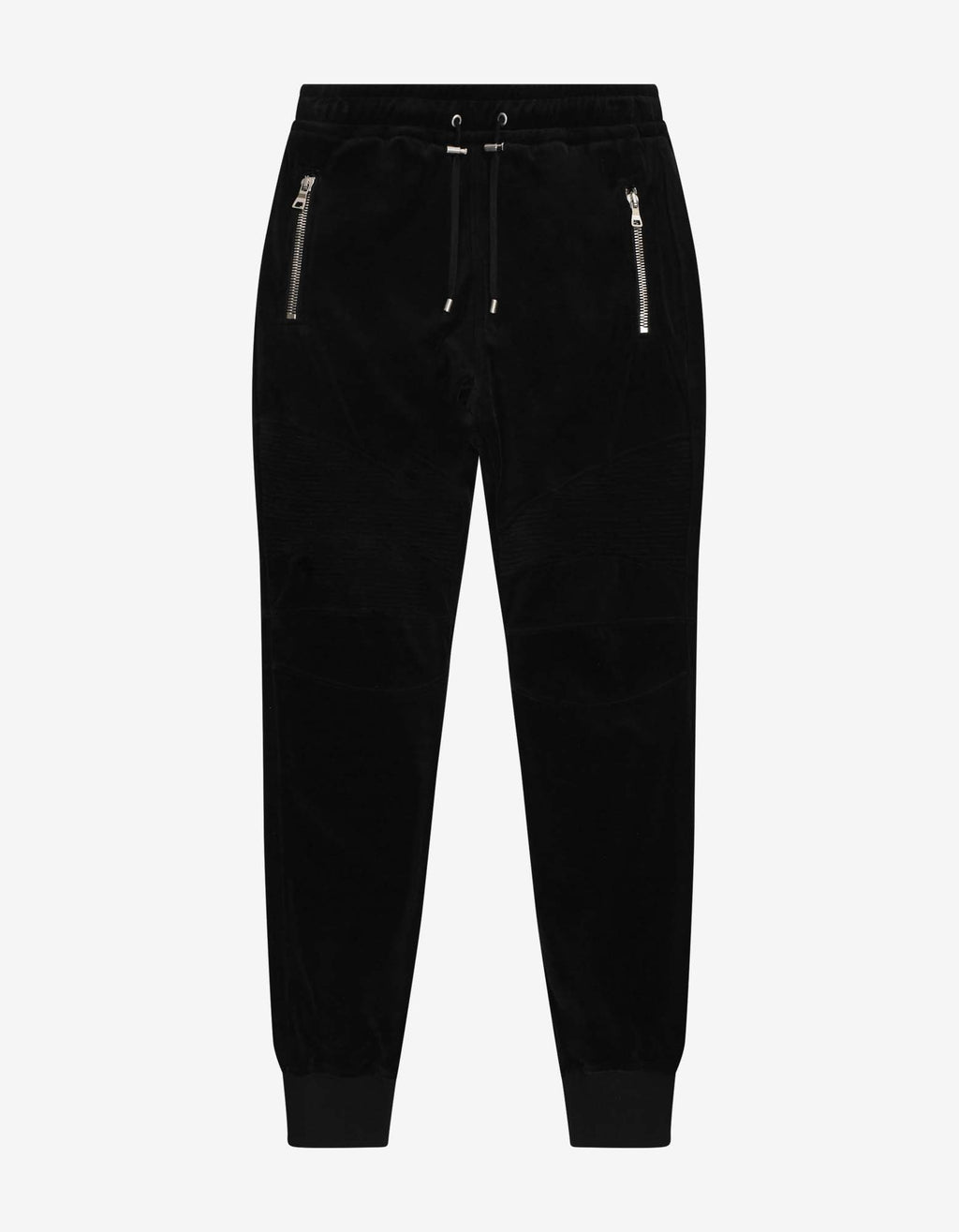 Black Velvet Biker Sweat Pants -