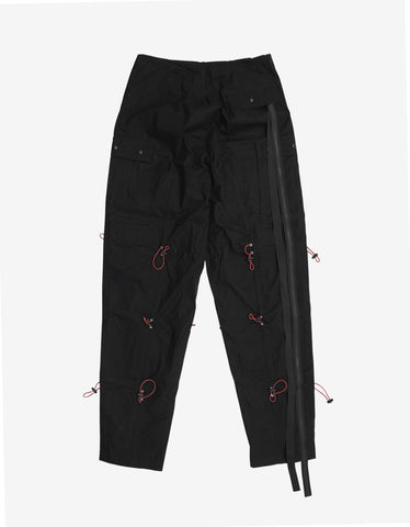 Ben Taverniti Unravel Project Black Multi-Drawstring Cargo Pants