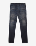 Blue Slim Fit Denim Biker Jeans