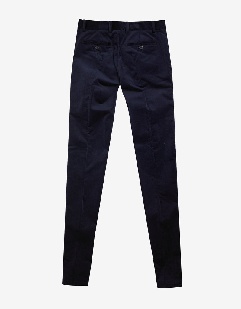 Blue Velvet Skinny Trousers