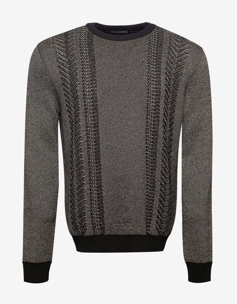 Gold & Black Wool Blend Sweater