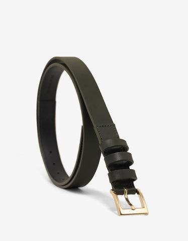 Balmain Khaki Leather Belt