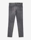 Grey Ribbed Panel Denim Jeans