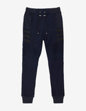 Navy Blue Biker Sweat Pants with Bands