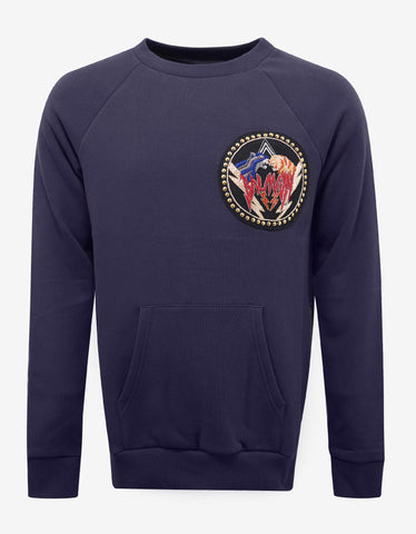 Balmain Purple Tiger Badge Sweatshirt