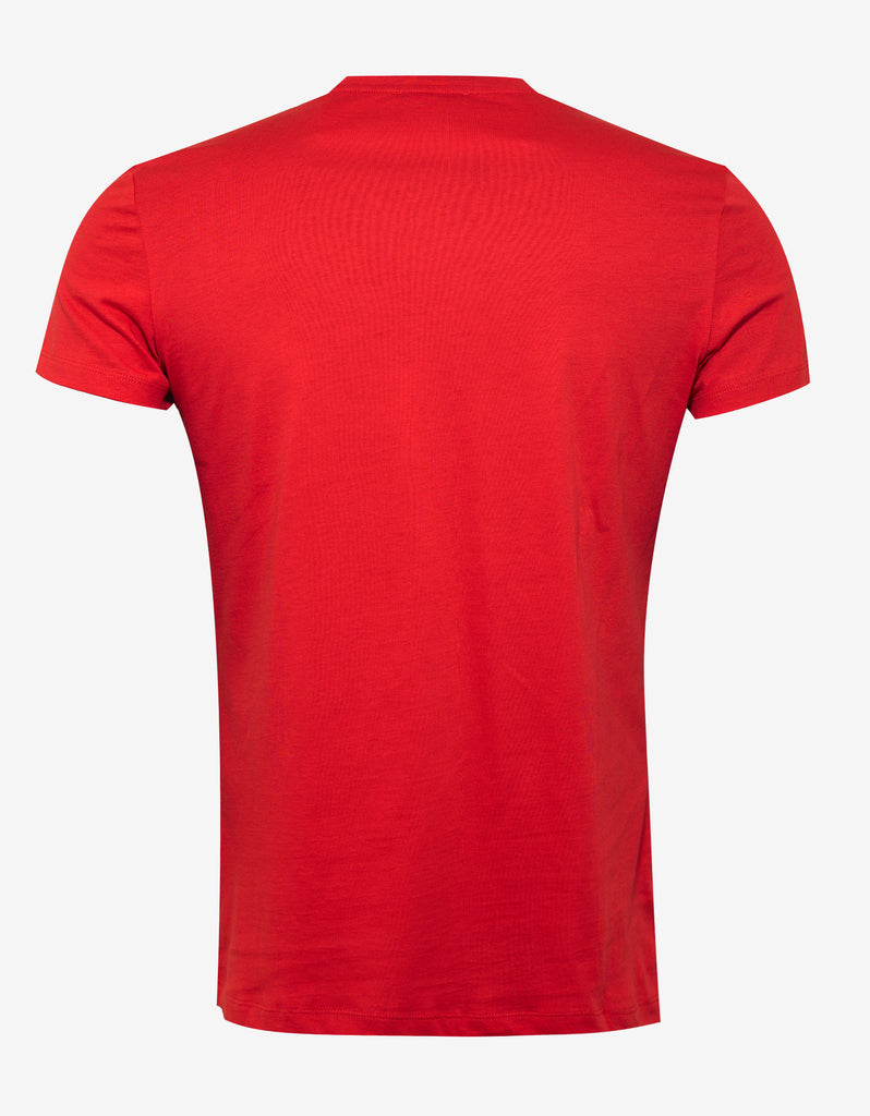 a5c5a66b Balmain Red World Tour Graphic Print T-Shirt – ZOOFASHIONS.COM