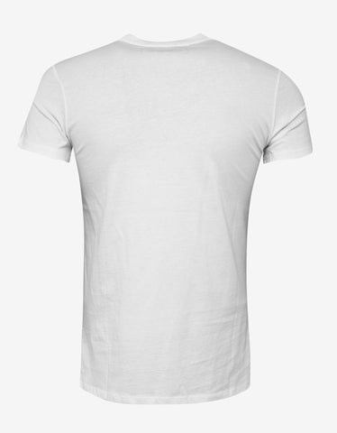 Balmain White Medallion Print T-Shirt
