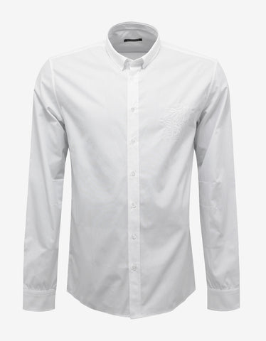 Balmain White Shirt with 'B' Embroidery