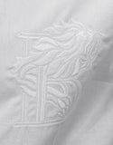 White Shirt with 'B' Embroidery