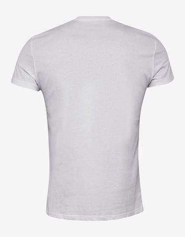 Balmain White T-Shirt with Black Balmain Logo