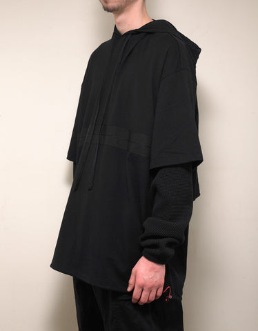 Ben Taverniti Unravel Project Black Dual Layer Hoodie