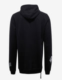 Distressed Terry Patch Black Hoodie