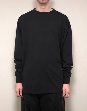 Black Printed Long Sleeve Skate T-Shirt