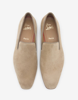 Dandelion Beige Suede Leather Loafers