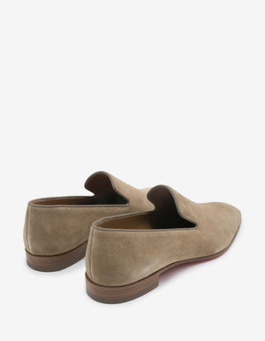 Dandelion Beige Suede Leather Loafers -